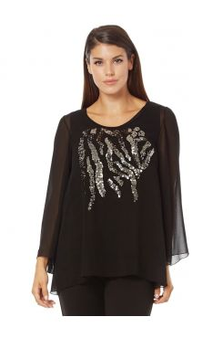 BLOUSE WITH SEQUIN    BLOUSES/SHIRTS