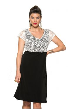 DRESS WITH SEQUIN WHITE LACE  | DRESSES