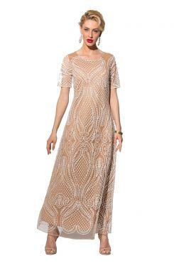 ECRU SEQUIN DRESS  | DRESSES