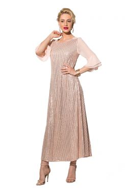 PINK SEQUIN DRESS WITH SLEEVE RUFFLES  | DRESSES
