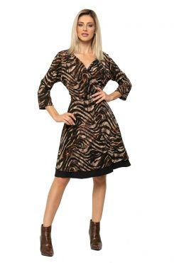 WRAPAROUND PATTERNED DRESS    DRESSES