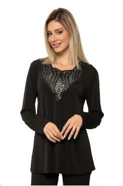 BLOUSE WITH A MOTIF    BLOUSES/SHIRTS