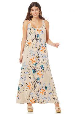 SLEEVELESS PATTERNED DRESS    DRESSES
