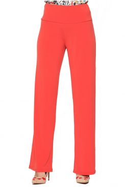 CORAL SUPER JERSEY PANTS WITH ELASTIC WAIST BAND    TROUSERS/SKIRTS