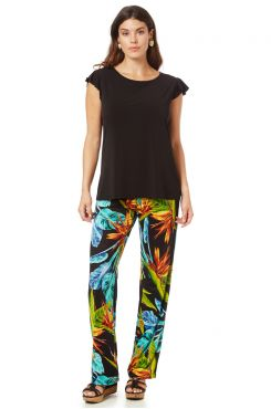 PATTERNED PANTS WITH BAND    TROUSERS/SKIRTS
