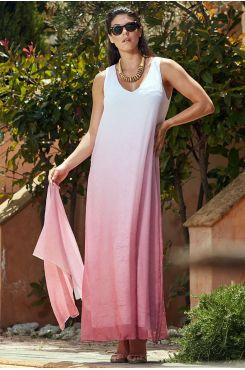 SLEEVELESS DEGRADE DRESS    DRESSES