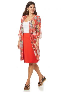 CORAL PENCIL SKIRT    TROUSERS/SKIRTS