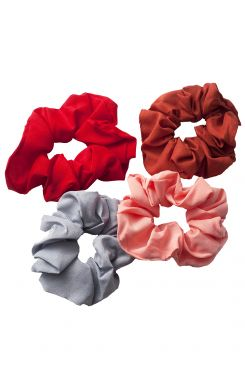 SOLID COLOR SCRUNCHIES  (4 pieces)  | SCRUNCHIES/CUES