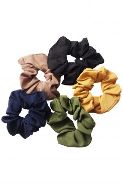 SOLID COLOR SCRUNCHIES (5 pieces)  | SCRUNCHIES/CUES