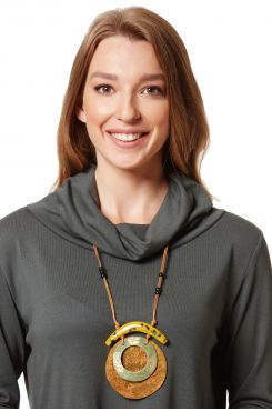 WOODEN LONG NECKLACE    NECKLACES