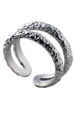 DOUBLE RING IN SILVER    RINGS