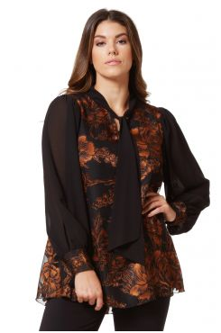 MUSLIN BLOUSE BLOUSE WITH TEXTURED PATTERNED  | BLOUSES/SHIRTS