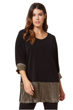 BLOUSE WITH GOLD PLEATED DETAILS  | BLOUSES/SHIRTS