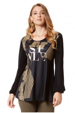 BLOUSE WITH PRINT DESIGN  | BLOUSES/SHIRTS