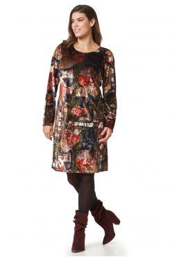 VELVET PATTERNED DRESS  | DRESSES
