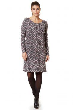 JACQUARD DRESS WITH LUREX  | DRESSES