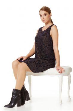 SLEEVELESS LUREX DRESS WITH PAISLEY  | DRESSES