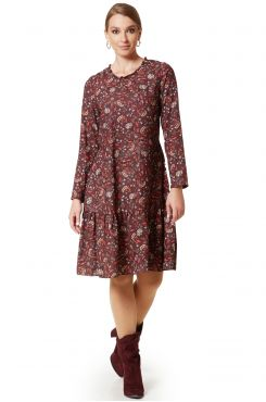 FLORAL DRESS WITH RUFFLES  | DRESSES