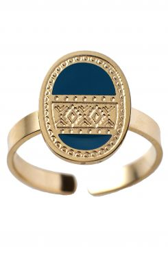 RING WITH A BLUE STONE    RINGS