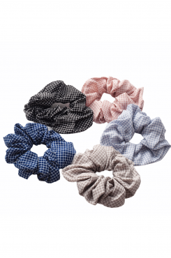 CHECKERED SCRUNCHIES (5 pieces)  | SCRUNCHIES/CUES