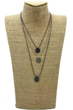 THREE LAYERED NECKLACE IN SILVER COLOR    NECKLACES