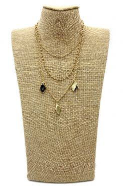 THREE LAYERED GOLD NECKLACE    NECKLACES