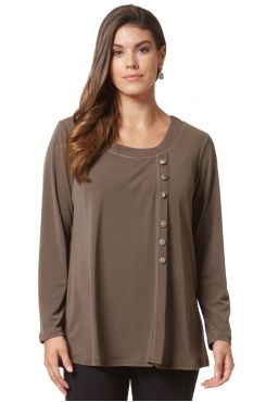 KHAKI BLOUSE WITH BUTTONS  | BLOUSES/SHIRTS