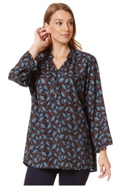 PATTERNED BLOUSE WITH BUTTONS  | BLOUSES/SHIRTS