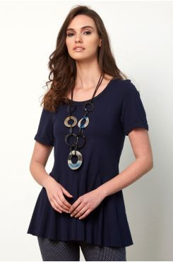 BLUE BLOUSE WITH RUFFLES  | BLOUSES/SHIRTS