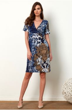 PATTERNED WRAPAROUND DRESS  | DRESSES
