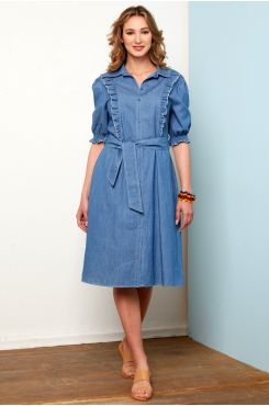 JEAN DRESS WITH BUTTONS  | DRESSES