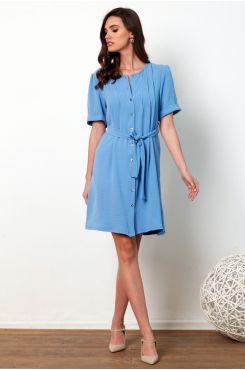 LIGHT BLUE SHIRT DRESS WITH BUTTONS  | DRESSES