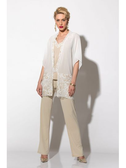 MUSLIN CARDIGAN WITH LACE    JACKETS/OUTERWEAR