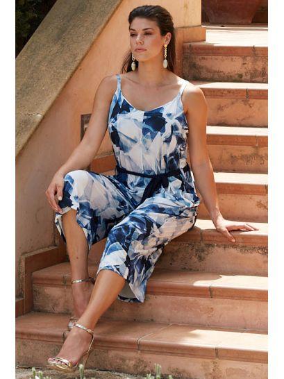 PATTERNED JUMPSUIT  | DRESSES