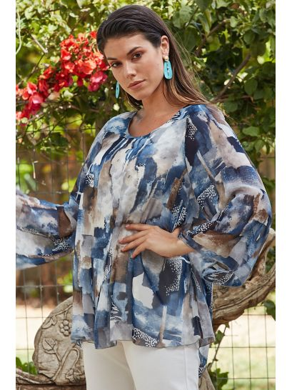 MUSLIN PATTERNED BLOUSE  | BLOUSES