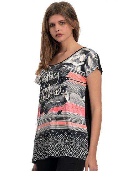 ZAPONE BLOUSE WITH PRINT DESIGN  | BLOUSES