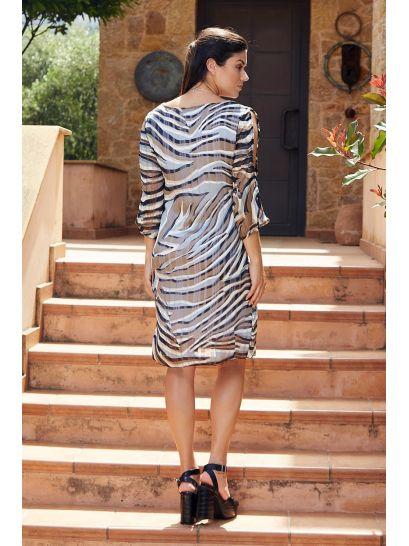 PATTERNED MUSLIN DRESS  | DRESSES