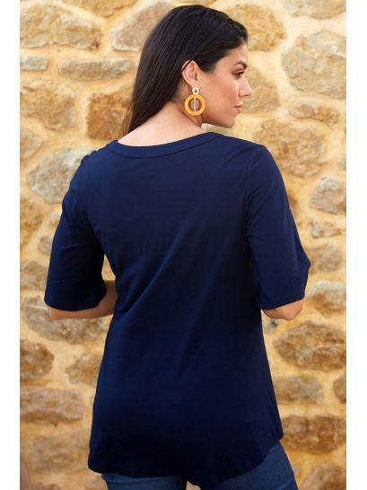 BLUE BLOUSE WITH BUTTONS  | BLOUSES