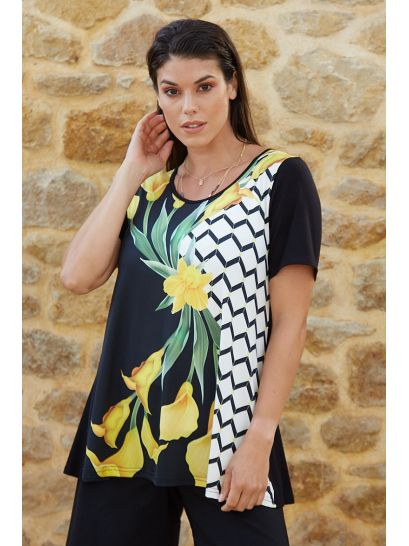 BLOUSE WITH PRINT DESIGN  | BLOUSES