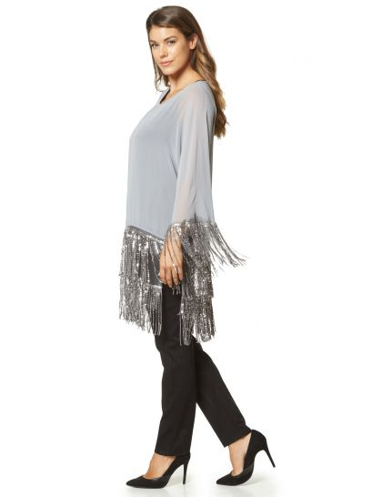 BLOUSE WITH SEQUIN FRINGES  | BLOUSES/SHIRTS