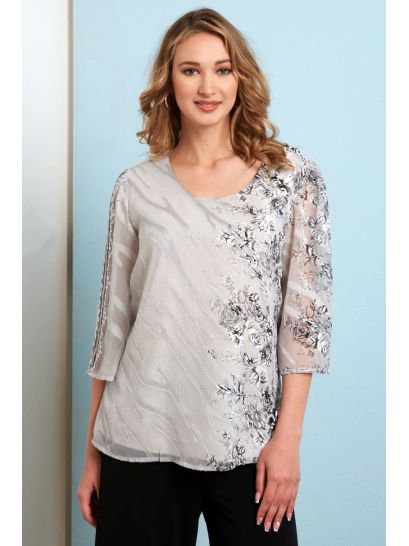 FLOWER PATTERNED BLOUSE    BLOUSES/SHIRTS