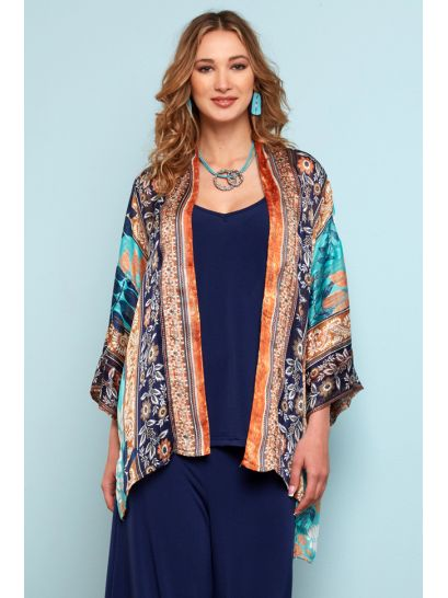 PATTERNED CARDIGAN WITH LUREX    JACKETS